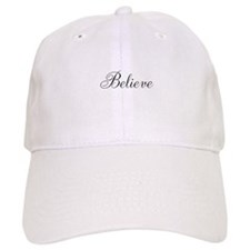 Believe Inspirational Word Baseball Baseball Cap