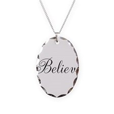 Believe Inspirational Word Necklace