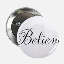 "Believe Inspirational Word 2.25"" Button (10 pack)"