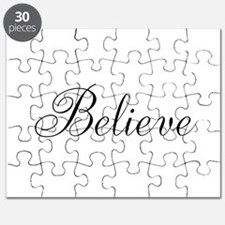 Believe Inspirational Word Puzzle