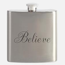 Believe Inspirational Word Flask