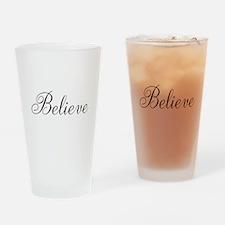 Believe Inspirational Word Drinking Glass