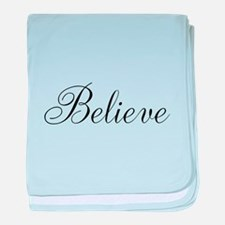 Believe Inspirational Word baby blanket