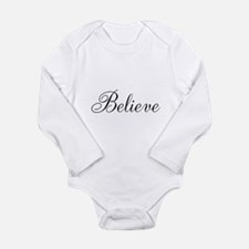 Believe Inspirational Word Body Suit