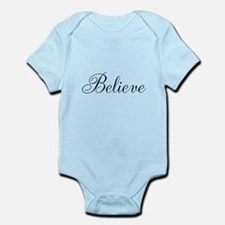 Believe Inspirational Word Body Suit