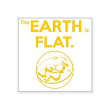"Flat Earth scifi vintage Square Sticker 3"" x 3"""