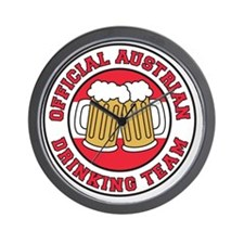 Austrian Drinking Team Wall Clock