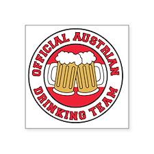 """Austrian Drinking Team Square Sticker 3"""" x 3"""""""