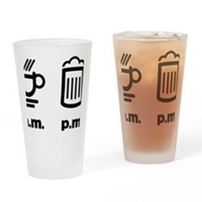 Coffee or beer Drinking Glass