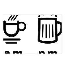 Coffee or beer Postcards (Package of 8)