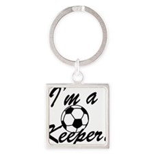 Im a Keeper Blk Square Keychain
