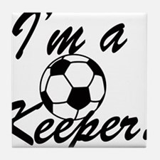 Im a Keeper Blk Tile Coaster