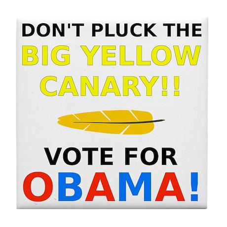 Big Yellow Canary Tile Coaster