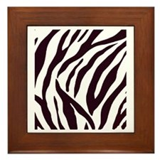 Zebra Stripes Framed Tile