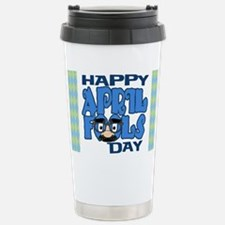 Happy April Fools Day Stainless Steel Travel Mug
