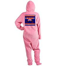 NATIVE AMERICAN BEADED STRIP Footed Pajamas