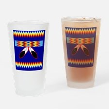 NATIVE AMERICAN BEADED STRIP Drinking Glass