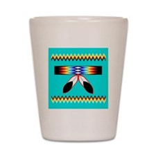 NATIVE AMERICAN BEADED STRIP Shot Glass