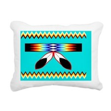 NATIVE AMERICAN BEADED S Rectangular Canvas Pillow