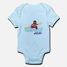 Girl Kayaking Infant Bodysuit
