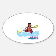 Girl Kayaking Decal