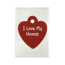 Love My Kuvasz Rectangle Magnet (10 pack)