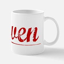 Haven, Vintage Red Mug