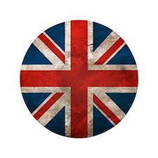 "Distressed Union Jack copy 3.5"" Button"