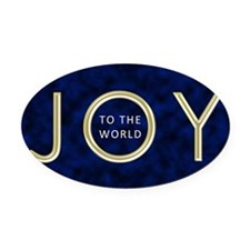 Joy To The World Oval Car Magnet