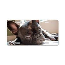 frenchie Aluminum License Plate
