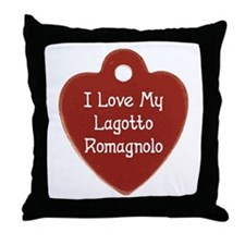 Love My Lagotto Throw Pillow