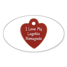 Love My Lagotto Oval Decal