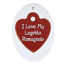 Love My Lagotto Oval Ornament