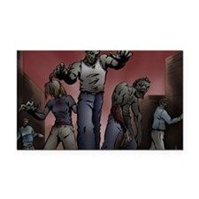 Zombies! Rectangle Car Magnet