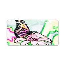 Colored Butterfly Aluminum License Plate