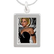 Circuit KEY Silver Portrait Necklace