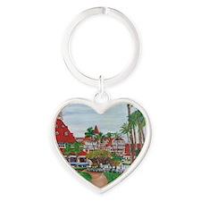 Coronado Hotel Del Heart Keychain