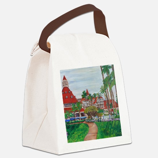 Coronado Hotel Del Canvas Lunch Bag