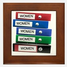 Do you have your Binders full of women Framed Tile