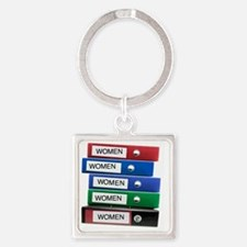 Do you have your Binders full of w Square Keychain