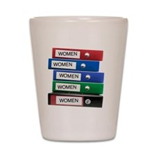 Do you have your Binders full of women? Shot Glass