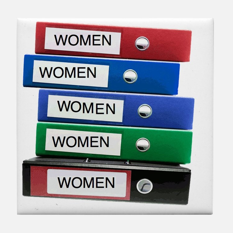 Do you have your Binders full of wome Tile Coaster