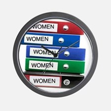 Do you have your Binders full of women? Wall Clock