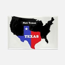 Texas Not Texas Rectangle Magnet