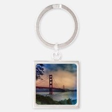 Golden Gate Bridge Square Keychain