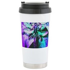 Purple Dragonfly Travel Mug