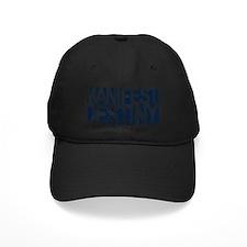 manifest destiny white on navy Baseball Hat