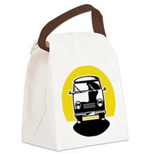 Minivan in Sunset 1 Canvas Lunch Bag