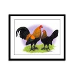 Brown Red OE Bantams Framed Panel Print