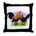Brown Red OE Bantams Throw Pillow
